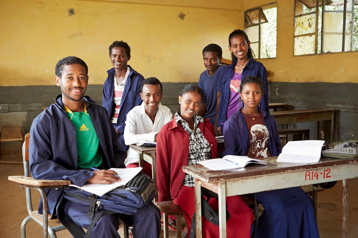 Youth supported by SOS Children's Villages in classroom in Bahir Dar, Ethiopia