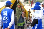 SOS rescue team helps out after 2005 earthquake in Pakistan