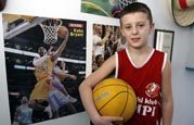 SOS boy from Bosnia with basketball