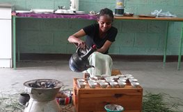 Initiating coffee ceremony at the SOS Vocational Training College in Addis Ababa.