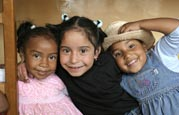 Smiling girls at the SOS Children's Village Ibarra in Ecuador
