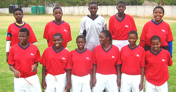 Mavis and her teammates at SOS Bindura, Zimbabwe