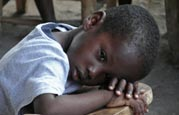 A boy at the SOS Children's Village Cap Haitien in Haiti