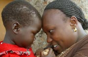 SOS child and SOS mother in Uganda