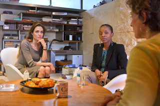 Angelina Jolie, Nathalie Nozile and Heather Paul